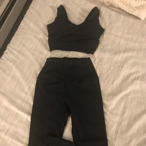 Workout 2-piece Black outfit